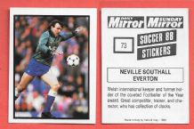Everton Neville Southall Wales 73